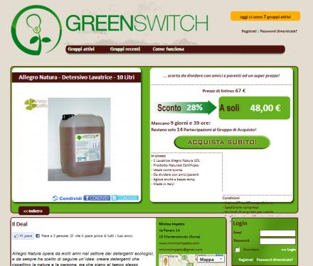 Minimo impatto aderisce a greenswitch