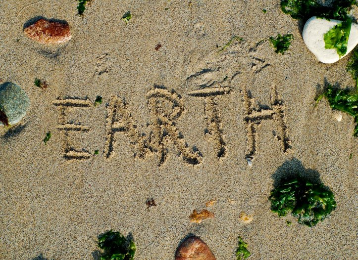 sand stones and earth