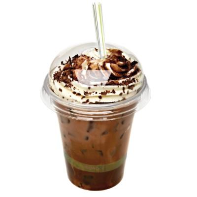 Milkshake con bicchiere coperchio e cannucce biodegradabili