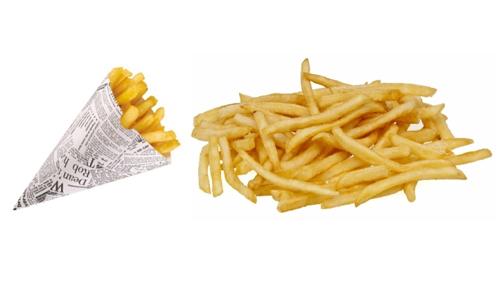 patatine fritte e cono