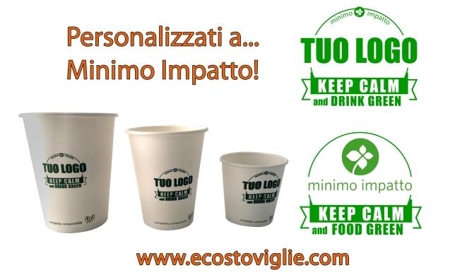 bicchieri cartoncino personalizzabili compostabili